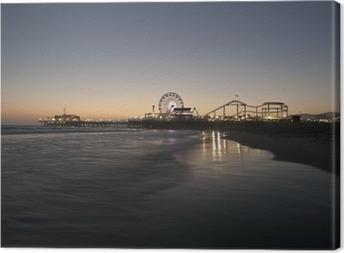 Canvastavla Santa Monica Beach Night