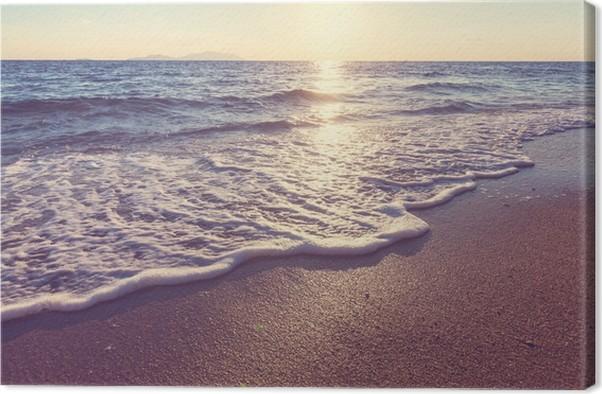 Canvastavla Sea solnedgång - Teman