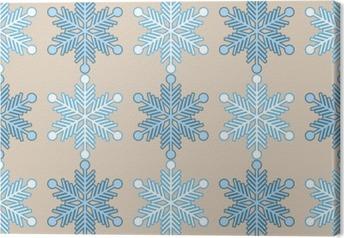 Canvastavla Seamless bakgrund med snöflingor. Skriva ut. Upprepa bakgrund. Tyg design, tapet.