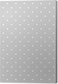 Canvastavla Seamless vit och grå vektor mönster eller kakel bakgrund med prickar