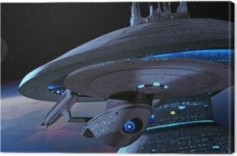 Canvastavla Ship from Star Trek