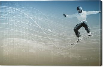 Canvastavla Snowboard
