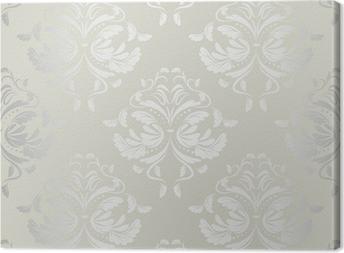 Canvastavla Sömlös wallpaper.damask pattern.floral bakgrund