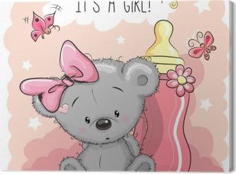 Canvastavla Söt tecknad Bear flicka