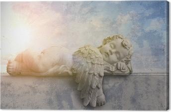 Canvastavla Sova ängel i solskenet