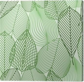 Canvastavla Spring gröna blad seamless