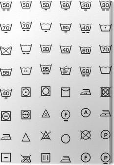 Canvastavla Ställa icone lavaggio e lavatrice