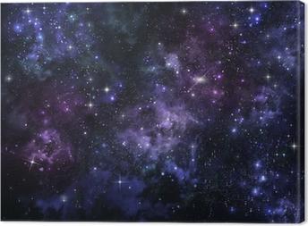 Canvastavla Stjärnhimmel på den öppna platsen