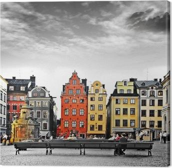 Canvastavla Stockholm, mitt i gamla stan,