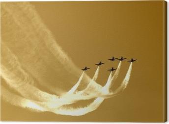 Canvastavla Synkroniserad laget flyg-flyga i formationer