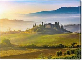Canvastavla Toscana på soluppgången