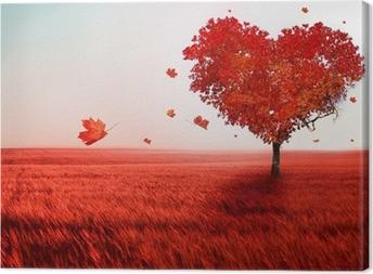 Canvastavla Träd av kärlek