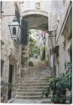 Canvastavla Trappor i Gamla Stan i Dubrovnik