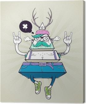 Canvastavla Triangle hipster bisarra karaktär