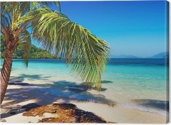 Canvastavla Tropisk strand, Wai ö, Thailand