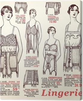 Canvastavla Underkläder 1930