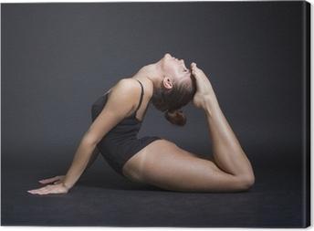 Canvastavla Ung vacker kvinna gymnast