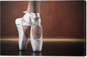 Canvastavla Unga ballerina dansar, närbild