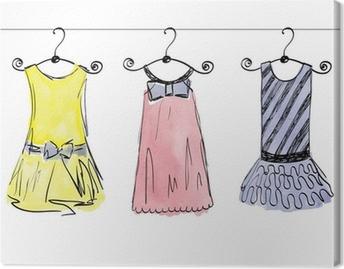 6d8ecc58143f Canvastavla Fashionabla vackra kläder för små flickor • Pixers® - Vi lever  för förändring