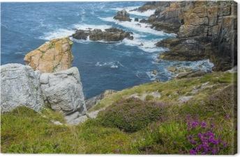 Canvastavla Vackra kustnära klippor i Bretagne Frankrike