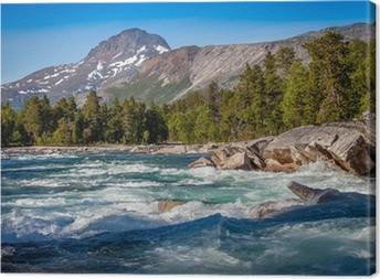 Canvastavla Vackra landskap-kristall flod