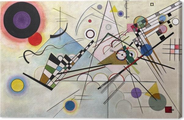 Canvastavla Vasilij Kandinskij - Komposition VIII - Reproduktioner