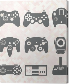 Canvastavla Vector Set: Video Game Controller Silhouettes