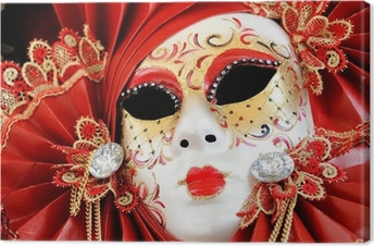 Canvastavla Venetian Carnival Mask