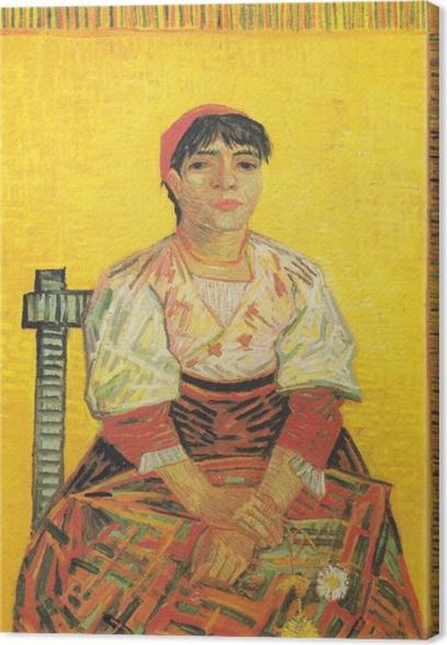 Canvastavla Vincent van Gogh - Den italienska kvinnan - Reproductions