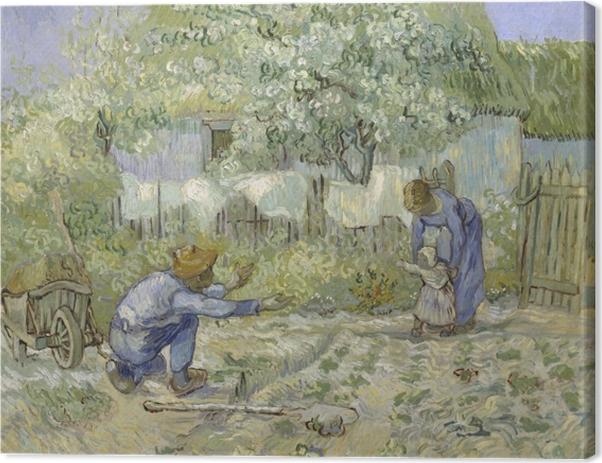 Canvastavla Vincent van Gogh - Första stegen - Reproductions