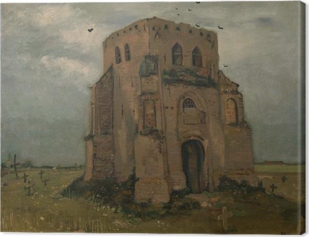 Canvastavla Vincent van Gogh - Gamla Kyrktornet i Nuenen - Reproductions