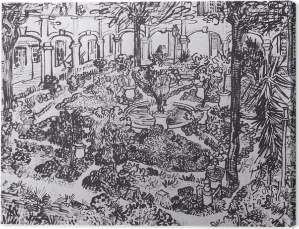 Canvastavla Vincent van Gogh - Gården vid sjukhuset - Reproductions