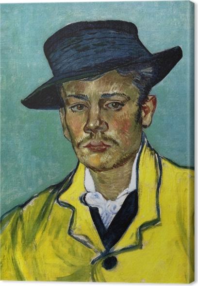 Canvastavla Vincent van Gogh - Porträtt av en ung man (Armand Roulin) - Reproductions