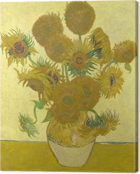 Canvastavla Vincent van Gogh - Solrosor - Reproductions