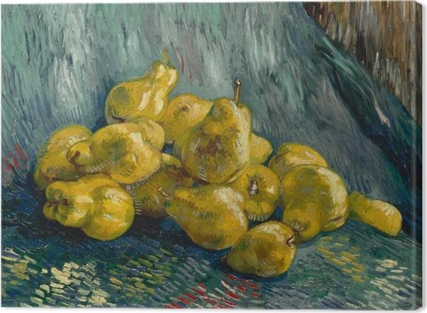 Canvastavla Vincent van Gogh - Stilleben med kvitten - Reproductions
