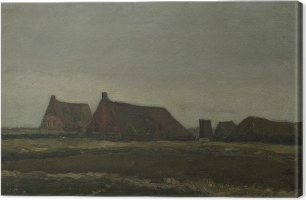 Canvastavla Vincent van Gogh - Stugor - Reproductions