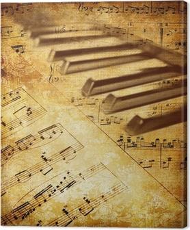 Canvastavla Vintage musikaliska bakgrund