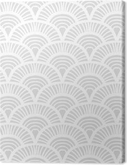 Canvastavla Vintagehäftat art deco mönster