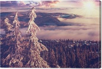 Canvastavla Vinter i Norge