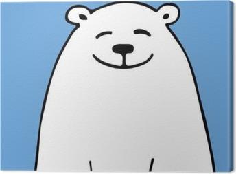 Canvastavla Vit björn, skiss för din design