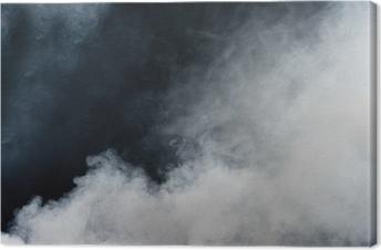 Canvastavla Vit rök på svart bakgrund. Isolated.