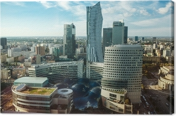 Canvastavla Warsaw view