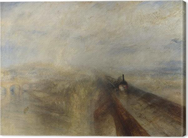 Canvastavla William Turner - Regn, ånga och hastighet - Reproduktioner