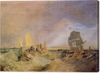 Canvastavla William Turner - Segling vid Thames' mynning