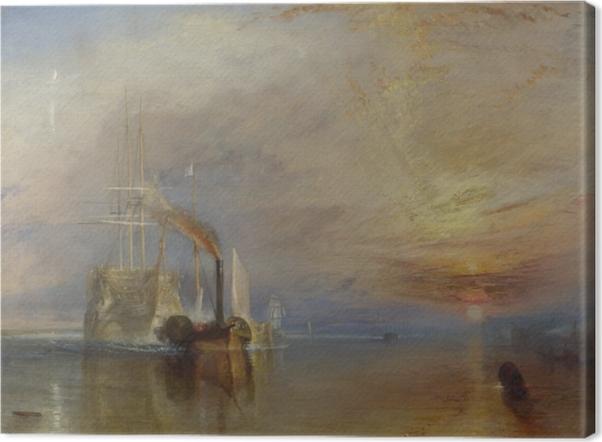 Canvastavla William Turner - Temeraires systa väg - Reproduktioner