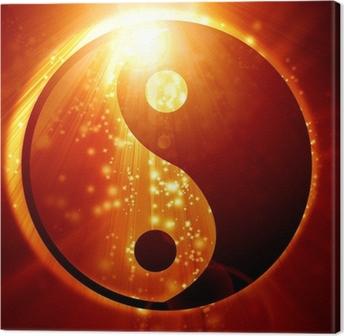 Canvastavla Yin Yang tecken