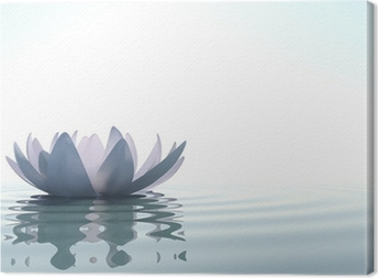 Canvastavla Zen blomma loto i vatten
