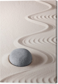 Canvastavla Zen meditation sten