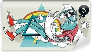 Carta da Parati in Vinile Abstract graffiti pantaloni a vita bassa