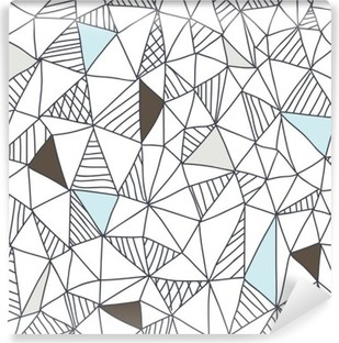 Carta da Parati in Vinile Abstract seamless pattern di doodle